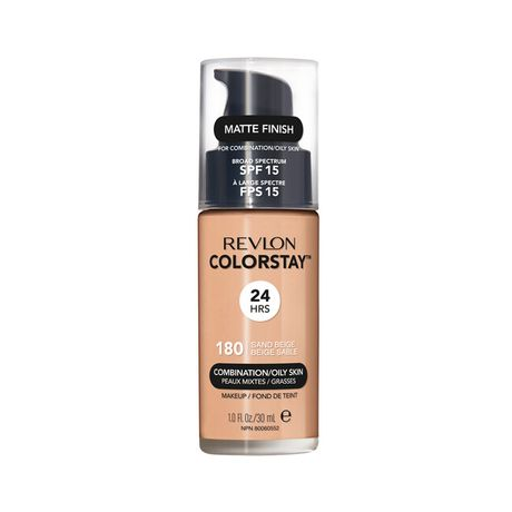 Revlon ColorStay Make Up Pump Combination Oily Skin make-up 30 ml, 180 Sand Beige