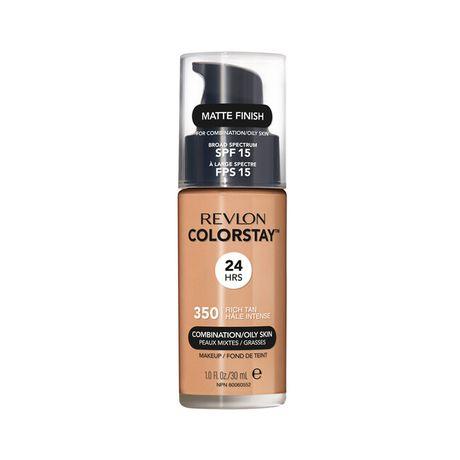 Revlon ColorStay Make Up Pump Combination Oily Skin make-up 30 ml, 350 Rich Tan