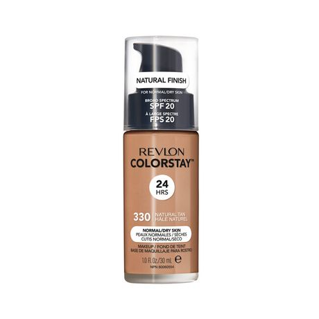 Revlon ColorStay Make Up Pump Normal Dry Skin make-up 30 ml, 330 Natural Tan