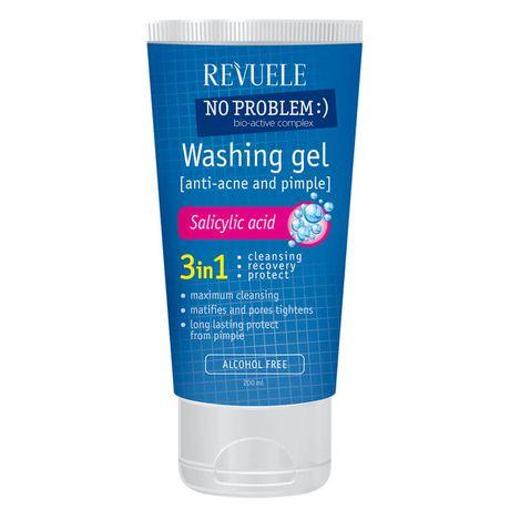Revuele No Problem čistiaci gél 200 ml, Anti-acne and pimples washing gel with salicylic acid