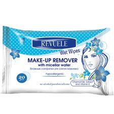 Revuele No Problem pleťový odličovač 20 ks, Wet wipes Make-up Remover with Micellar Water