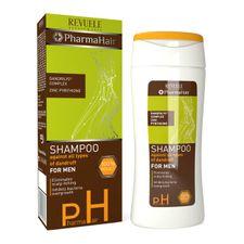 Revuele Pharma Hair šampón 200 ml, Shampoo Against All Types of Dandruff for Men