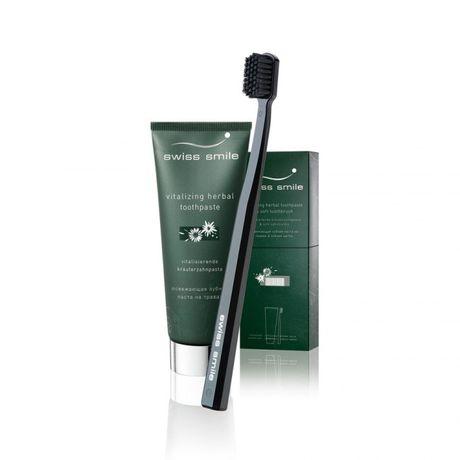 Swiss Smile Herbal kazeta, zubná pasta 75 ml + zubná kefka Green