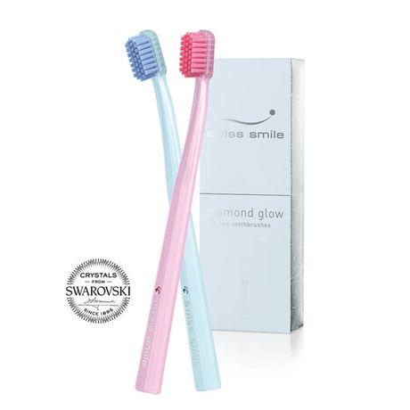 Swiss Smile Toothbrush Set kazeta, Diamond Glow 2x Toothbrush with Swarowski elements