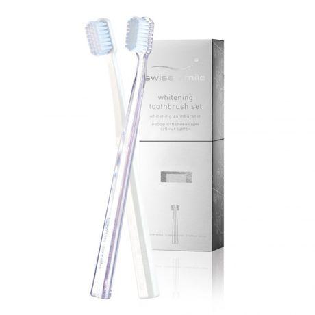 Swiss Smile Whitening zubná kefka 1 ks, 2x zubná kefka White + Transparent