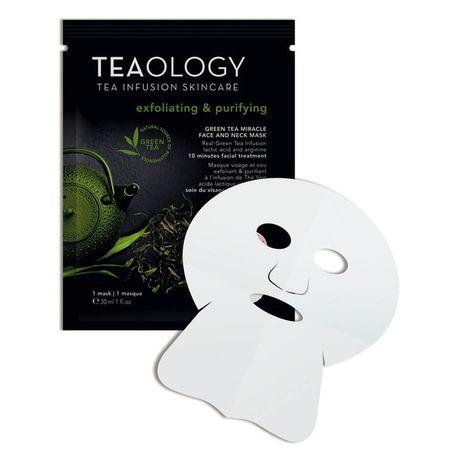 Teaology Green Tea maska 1 ks, Miracle Face and Neck Mask