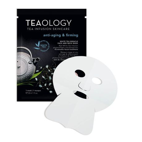Teaology White Tea maska 1 ks, Miracle Face and Neck Mask