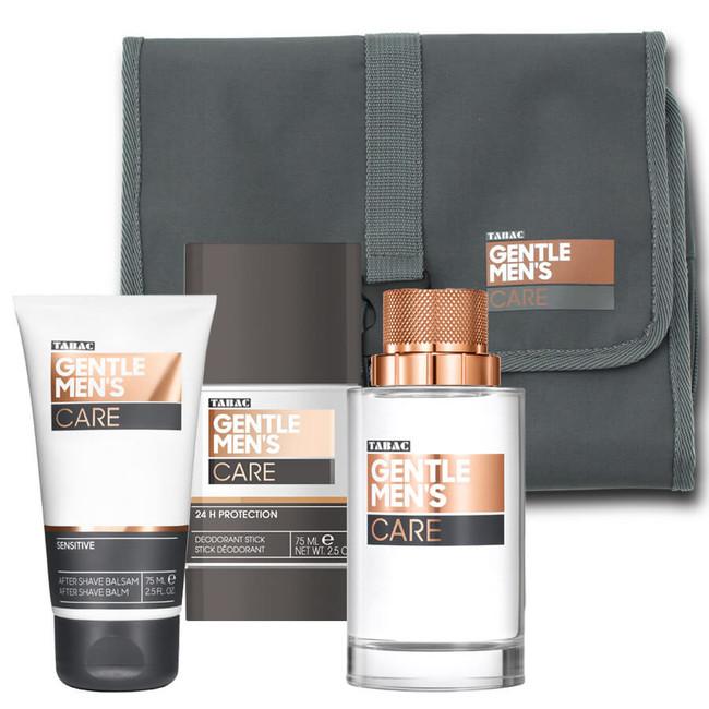 Tabac Gentle Men's Care kazeta, EdT 90 ml + deozodorant stick 75 ml + balzam po holení 75 ml + kozmetická taška